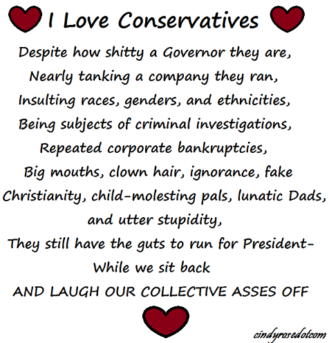 I heart conservatives