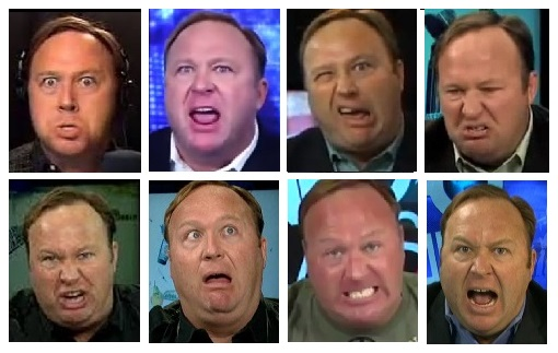 Alex Jones faces