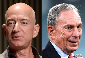 bezos asked bloomberg to run in february
